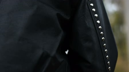 kalhoty : Brutal Black leather jacket