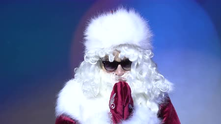 worship : Praying to God, Help me Gesture by Santa Claus in Problem Stock Footage