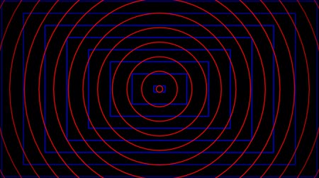 concêntrico : Background CG circle red and rectangle blue