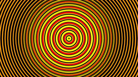 Abstract Hypnotizing Circles Zoom Endless Background. Стоковые видеозаписи