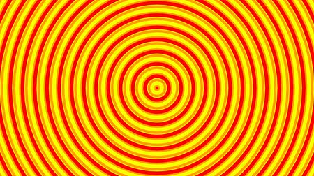 Orange and yellow circles, created from intro. Pattern animation, endless loopable movement Стоковые видеозаписи