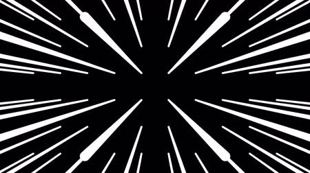 célere : Loop slow motion on the road. Looped video. White and black simple lines background. Glowing lasers.