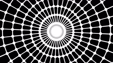 radiation : Primitive loopable web animation. Geometric round shape is spinning.