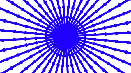 irradiar : Primitive loopable animation. Geometric round shape is spinning. Stock Footage