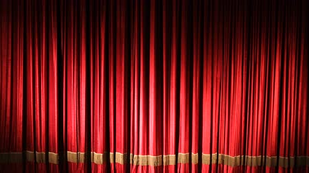 kadife : Theater red curtain with spot lighting