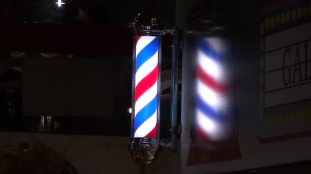 kutup : Barbershop Pole Stok Video