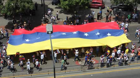 totalitarianism : Protest for freedom in Venezuela Stock Footage