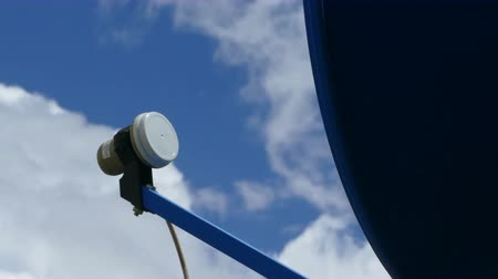 alıcı : Satellite TV Antenna with clouds timelapse. Cable TV antenna
