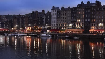 honfleur : Honfleur city by night, Normandy, France Europe
