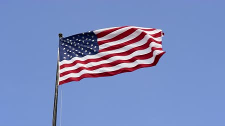 lenda : American patriot flag in the sky by sunny day. Stock Footage