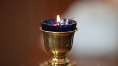 церковь : burning candle in  church