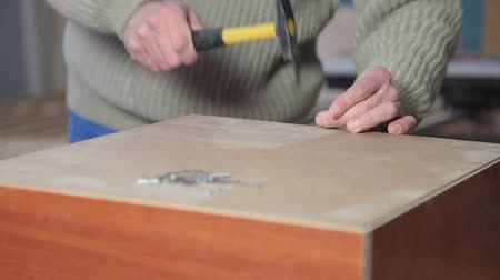 instrument maker : Hit the Nail Stock Footage