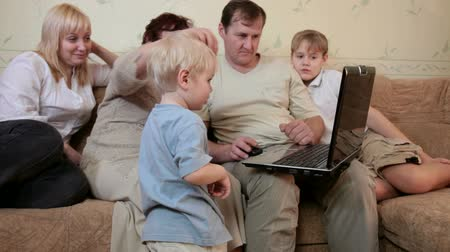 family life : Family using laptop at home