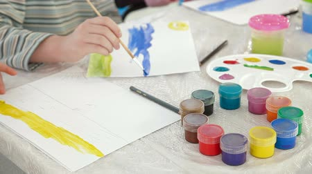 malarstwo : Children painting in watercolor