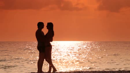 A young couple on vacation at the beach of the Black Sea Wideo