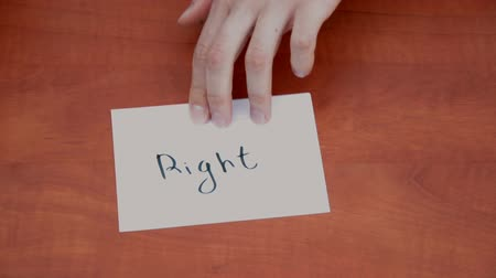 truly : Handwritten note with the word Right Stock Footage