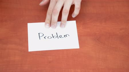 proceed : Handwritten note with the word Problem