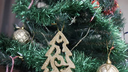 decorate the Christmas tree, Christmas ornaments, close-up