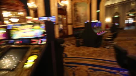 unlucky : BARCELONA, SPAIN - AUGUST 10, 2018: Hall of Monte Carlo Casino, popular gambling complex opened in 1863