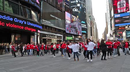 New york, New york,Usa. September 2th, 2016: dance flash mob Chinese