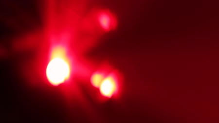 Multicolored Lights Glow On The Light Panel Stock Footage