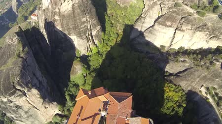 evangelical : Aerial view of the monastery in Meteora, Greece