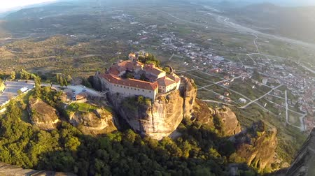 evangelical : Aerial view of the monastery of St. Stephen in Meteora, Greece