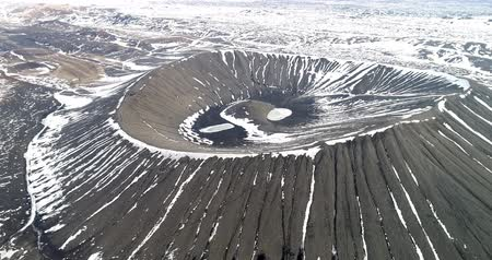 Aerial view of Hverfjall Crater, Myvatn, Iceland