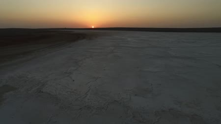 vaha : Nicw sunset or sunrise aerial footage of dry salt lake or another planet footage