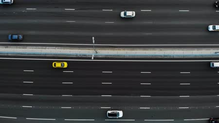 top ten : 10 ten lane motorway aerial view with a lot of trucks and cars passing by and drive to the place