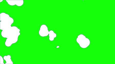 elle çizilmiş : Animated clouds on a green green background. Stok Video