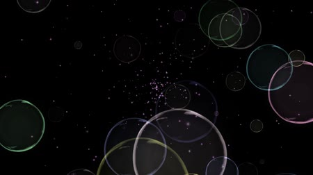 колебание : Animated looped background with bubbles.