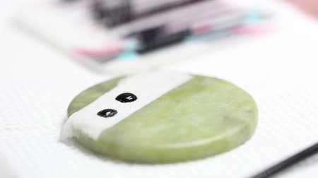 Gel for applying on the eyelashes in the spa salon. A drop of gel for sticking eyelashes close-up.