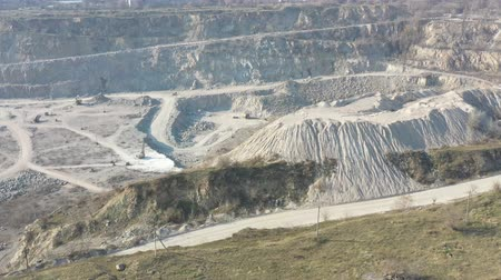 toscana : Quarry for the extraction of rubble aerial survey
