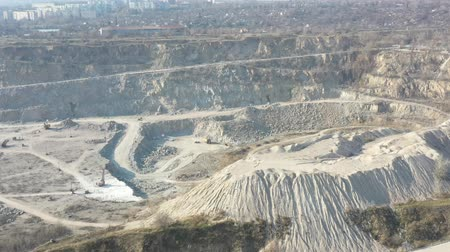 Quarry for the extraction of rubble aerial survey