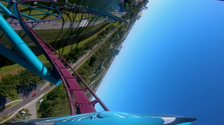 universal studios : Orlando, Florida. April 15, 2019. Amazing Mako Rollercoaster experience at Seaworld in International Drive area.
