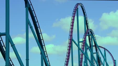 universal studios : Orlando, Florida. February 26, 2019 Amazing Mako Rollercoaster at Theme Park in International Drive area. Stock Footage