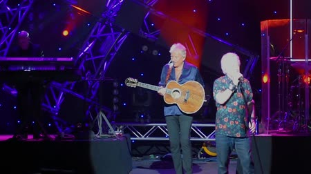 epcot : Orlando, Florida. March 26, 2019. Graham Rusell and Russell Hitchcock from Air Supply, singing Without You at Garden Rock Festival at Epcot in Walt Disney World.