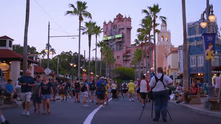 curto : Orlando, Florida. May 26, 2019. People walking on Sunset Boulevard at Hollywood Studios.