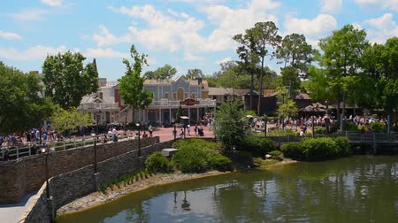 curto : Orlando, Florida. May 10, 2019. View of boardwalk in Liberty Square area at Magic Kingdom.