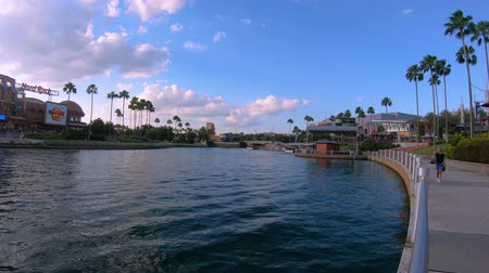 Orlando, Florida. May 19, 2019. Panoramic view of Citywalk at Universal Studios area.