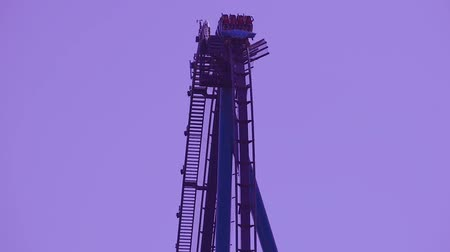 adrenalin : Orlando, Florida. May 31, 2019. People enjoying terrific Mako rollercoaster at Seaworld in International Drive area