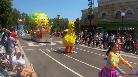 Orlando, Florida. May 27, 2019. Sesame Street Party Parade at Seaworld in International Drive area.