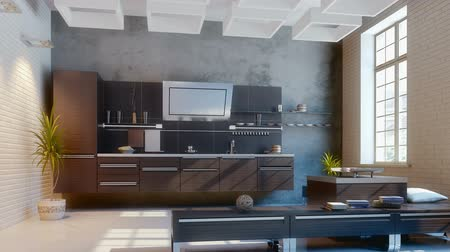 mutfak : modern kitchen (camera motion)