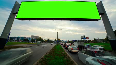 blank : billboard green screen