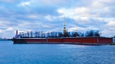 nebraska : Peter and Paul Fortress. St. Petersburg. Russia Stock Footage