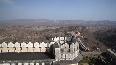 bina : Old Fortress. India. Radzhastan.Udaypur  Stok Video