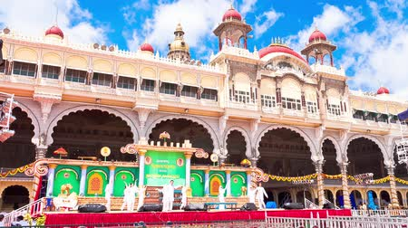 bangalore : Mysore. The main palace complex. time-lapse