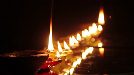 indian ethnicity : Deepak oil lamp. Deepavali