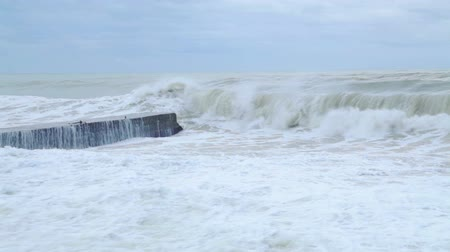 color surge : Storm on the Black Sea Stock Footage
